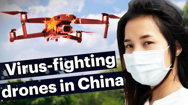 virus fighting drones China Smartphonegreece