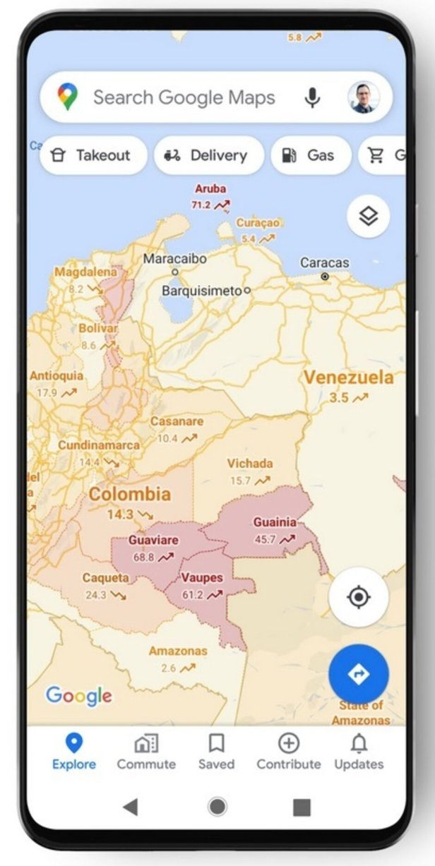 google maps convid19 Smartphonegreece